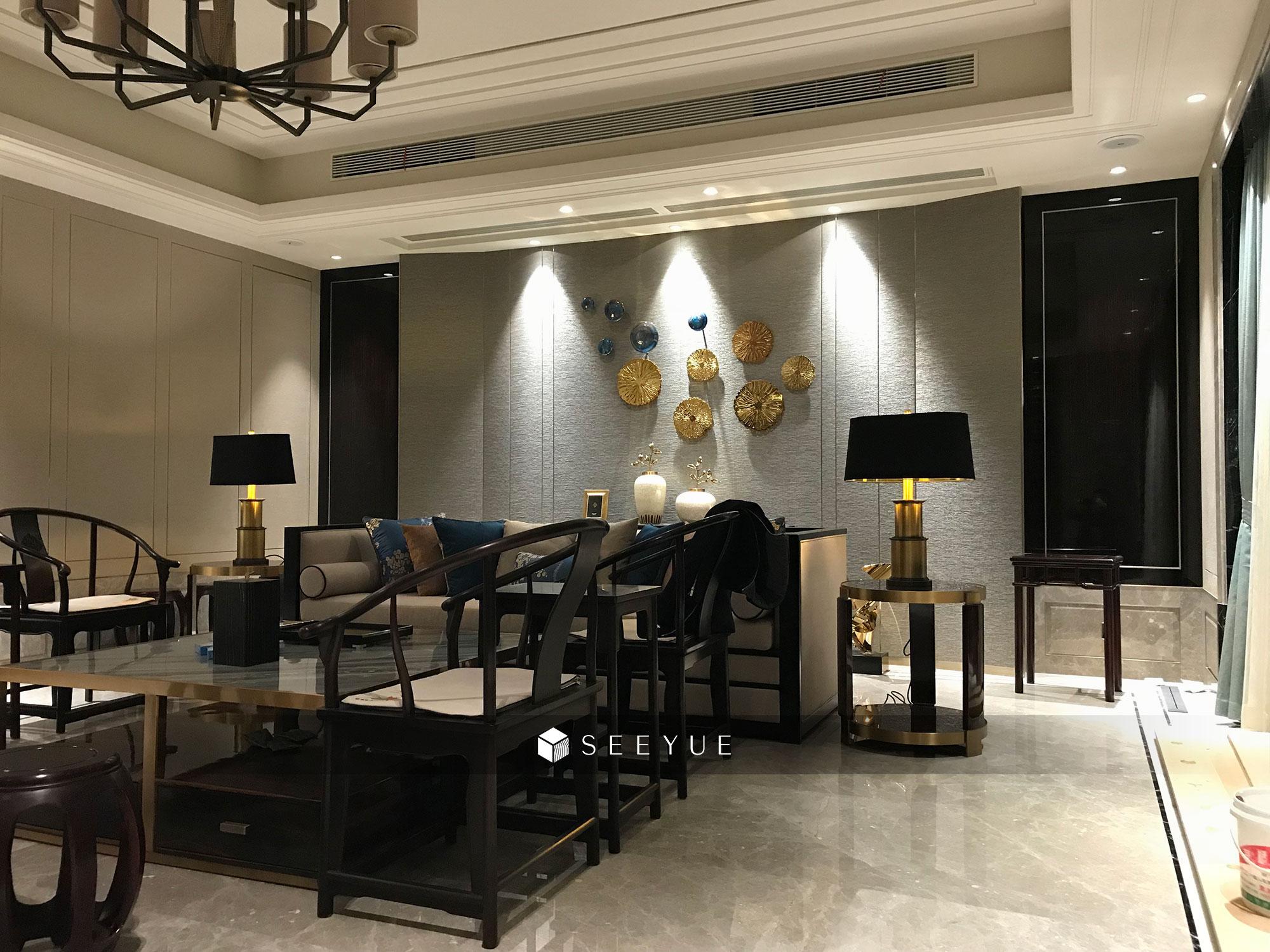 尚御府 客厅-护墙--新中式--奢悦
